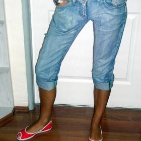 Modré tříčtvrteční džíny  Diverse - foto č. 1