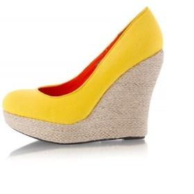 Barevné páskové semišové lodičky - sandálky - foto č. 1