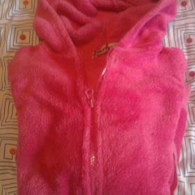 Růžová plyšová mikina - foto č. 1