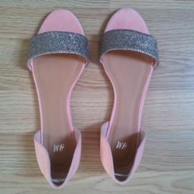 Růžové botičky se stříbrnými třpytkami, H&M - foto č. 1