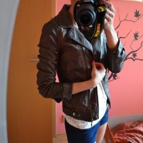Hn�d� ko�enkov� bunda k�iv�k Zara - foto �. 1