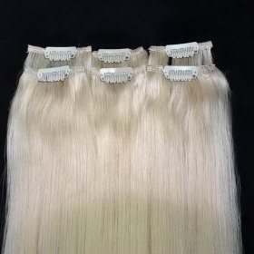 Blond clip in lidsk� vlasy - foto �. 1