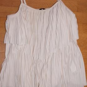 Plisovaný bílý top H&M - foto č. 1