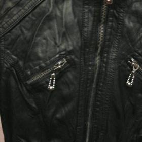 Černá koženková bunda - foto č. 1