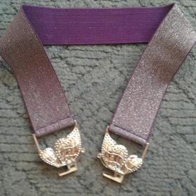 Fialový pásek s motýlem - foto č. 1