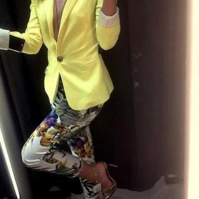 Žluté sako Zara s podšívkou - foto č. 1