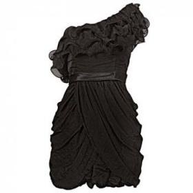 Šaty rare One Shoulder Ruffle Dress - foto č. 1