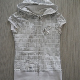 Stříbrno - bílá mikina G - unit s krátkým rukávem - foto č. 1