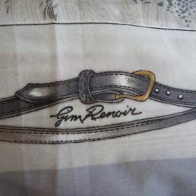 Šedý hedvábný šátek Gim Renoir - foto č. 1