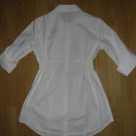 Bílá halenka/košile se žabičkováním v pase Clockhouse - foto č. 1