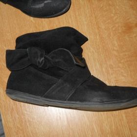 Černé semišové boty z New yorkru