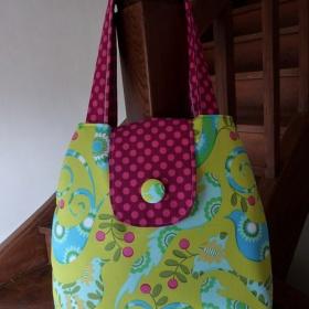 Strakatá DIY/handmade taška velká - foto č. 1