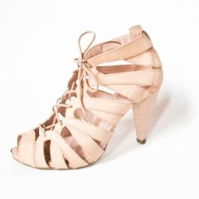 Lehce lososové elegantní boty - foto č. 1