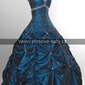 Šaty plesové modré - foto č. 1