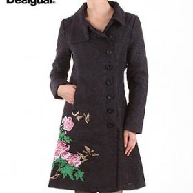 Desigual černý kabát florencia - foto č. 1