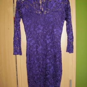 Fialové krajkové společenské šaty Asos - foto č. 1