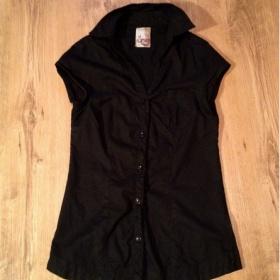 Dámská černá košile Bershka - foto č. 1