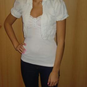 Bolerko bílé s kapsičkou - foto č. 1
