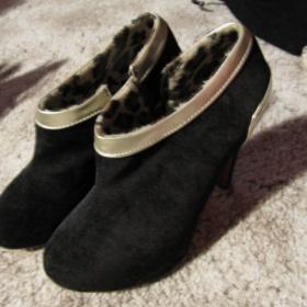 Černé semišové boty - foto č. 1