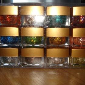 Sada glitrových barevných gelů - foto č. 1