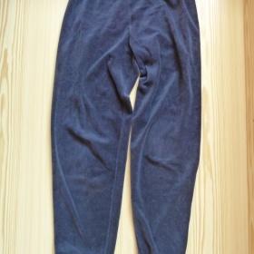 Tmavě modré semišové tepláky Tchibo - foto č. 1