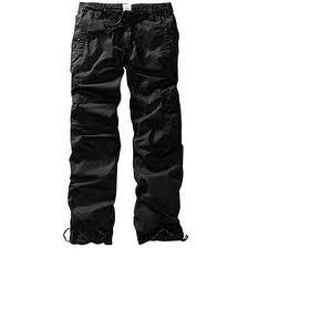 Černé 3/4 nebo 7/8 bavlněné kalhoty H&M (Cargo style) - foto č. 1