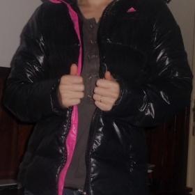 Zimní černá bunda Adidas - foto č. 1