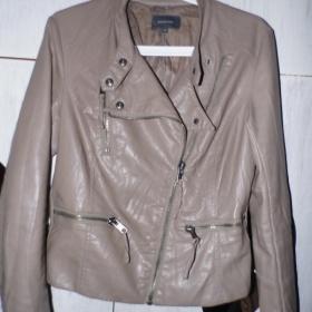 Koženková bunda, křivák Reserved, nude - foto č. 1