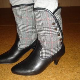 Černo - šedé kotníčkové boty - foto č. 1