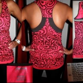 Růžový top fitness reebok - foto č. 1