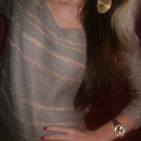 Zlatošedý svetřík Tally Weijl - foto č. 1