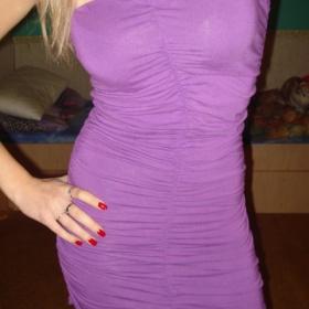 Šaty fialové barvy  Amisu - foto č. 1