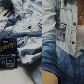 ''džínová''košile Takko - ruční barvení  ombre - foto č. 1