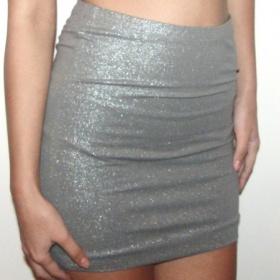 Stříbrná pasová sukně H&M - foto č. 1