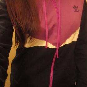 �erno - fialov� mikina Adidas na zip s kapuc� - foto �. 1