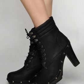 Černé kotníkové boty - foto č. 1