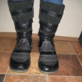 Černo - šedé zimní boty Mustang - foto č. 1