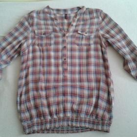 Červeno - modro - béžová košile Ann christine - foto č. 1