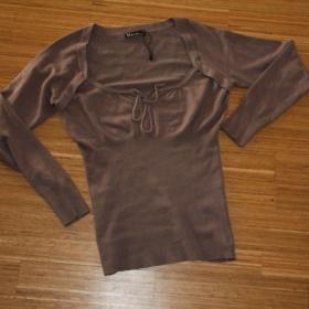 Hnědošedý svetřík Moda3000 - foto č. 1