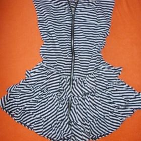 Černobílé šaty Fishbone - foto č. 1