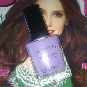 Avon - fialový lak na nehty - foto č. 1