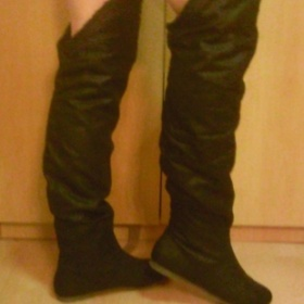 Dámské zimní vysoké boty, černé - foto č. 1