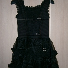 Černé Gothic Lolita Šaty Poizen Industries - foto č. 1