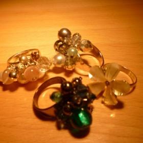 4 prstýnky (bižuterie) - foto č. 1