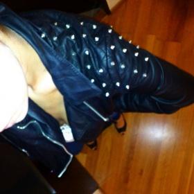 Černá koženková bunda z hroty Terranova - foto č. 1