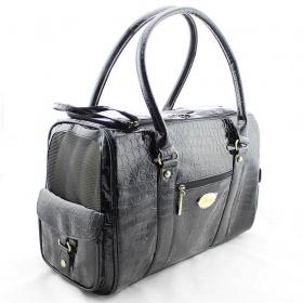Černá lesklá kabelka pro psa - foto č. 1