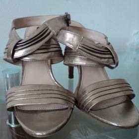 Zlaté páskové boty Zara - foto č. 1