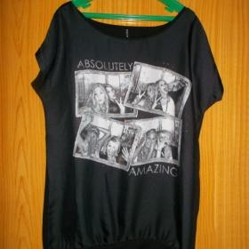 Černé  triko s potiskem Amisu - foto č. 1