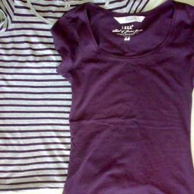 2 trička (fialové, pruhované) H&m - foto č. 1