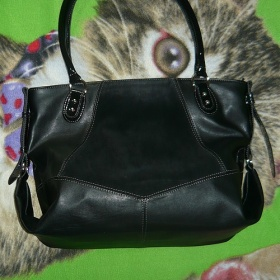 Černá Elegantní Kabelka Made IN Italy La farfalla - foto č. 1